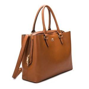 Brown vegan leather purse